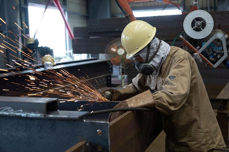 プラント事業部では主に、製缶・配管工事を行っております